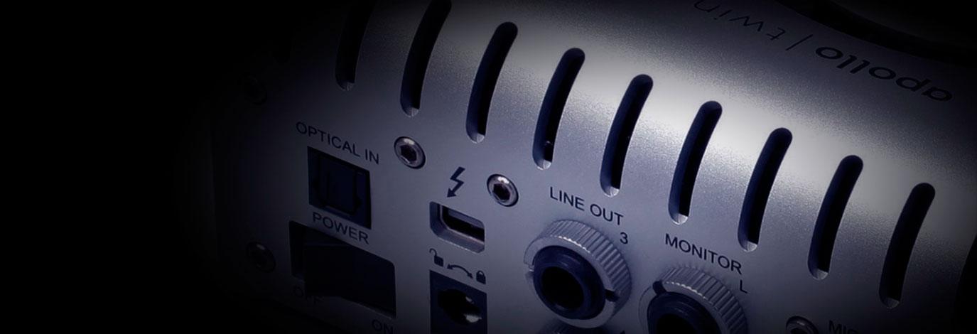 Thunderbolt para audio profesional