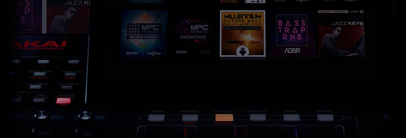 Promoción Akai MPCX: accede a una colección Premium de expansiones MCP