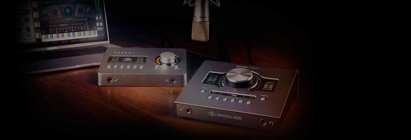 Llévate Plug-ins gratis al comprar una interfaz de audio Universal Audio Apollo Twin or Arrow. Solo hasta el 30 de junio de 2019