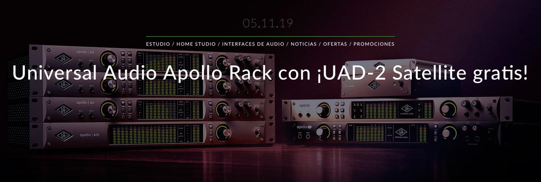 Compra una Universal Audio Apollo Rack antes del 31 de Diciembre y te regalamos una UAD-2 Satellite