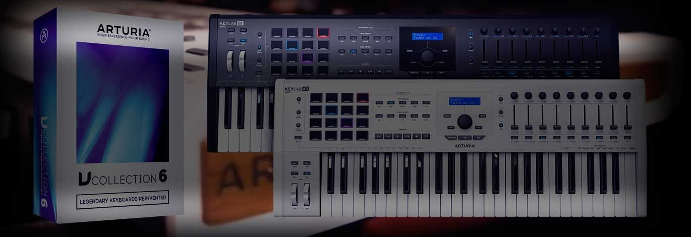 Arturia V Collection 6 gratis con tu nuevo Keylab 49 MKII