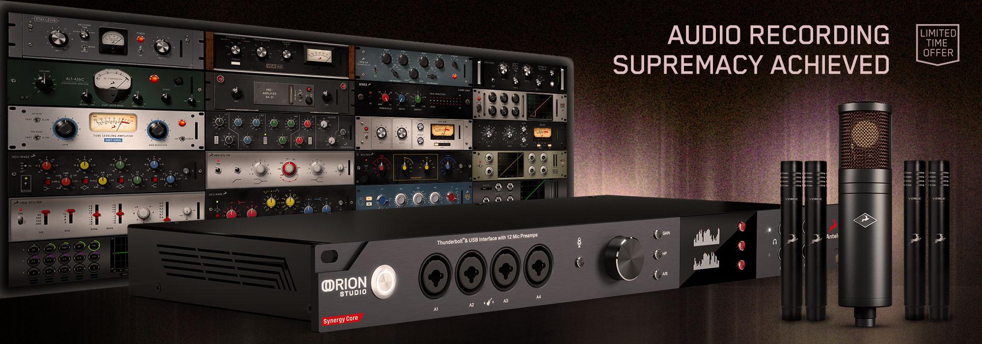 Oferta Antelope Audio: micrófonos y plug-ins gratis con tu nueva interfaz Synergy Core