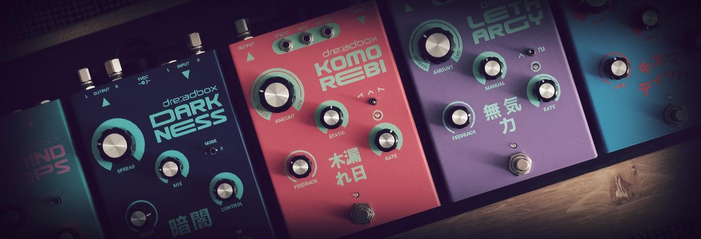 ¡Te presentamos los nuevos pedales de Dreadbox!