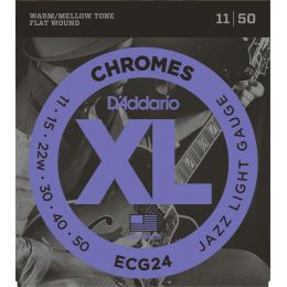 D'Addario ECG24 Chromes Jazz Light [11-50]