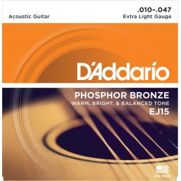 D'Addario EJ15 Phosphor Bronze Extra Light [10-47]