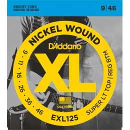 D'Addario EXL125 - XL Sup.Light Top/Reg. Bot. [09-46]