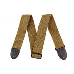 "Fender ""F"" Tweed Strap, Gold/Black"